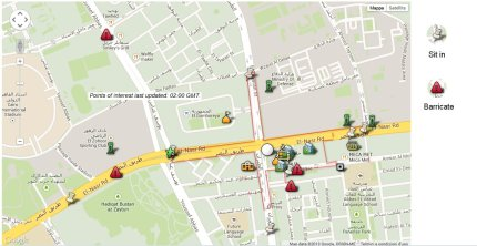 Nasr City Clashes Map by Al Jazeera