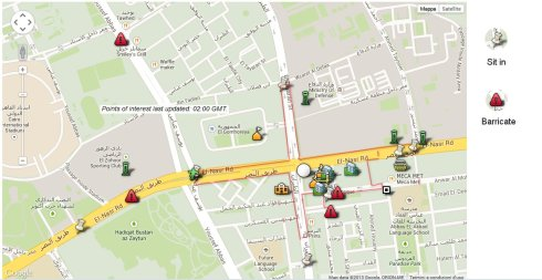 Nasr City Clashes Map by Al Jazeera