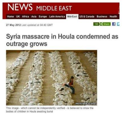 Houla carnage irak fake syria BBC