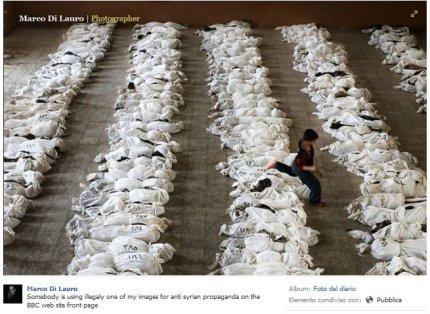 marco di lauro carnage irak fake syria BBC