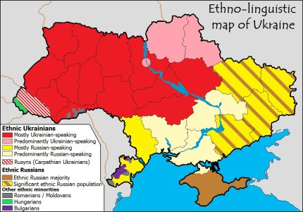 Ucraina Mappa Etnica