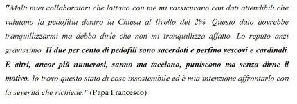 2percento pedofili papa franesco