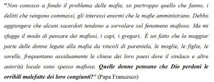 mafia papa francesco