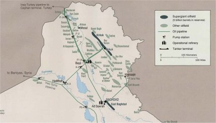 Oil fields into action area of ISIS