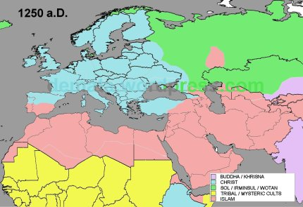 RELIGIONS EXPANSION 1250 aD L