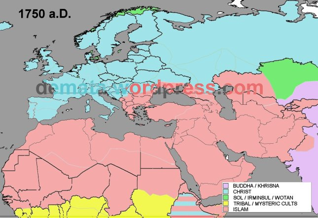 RELIGIONS EXPANSION 1750 aD L