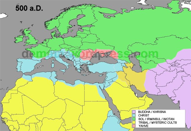 RELIGIONS EXPANSION 500 aD L