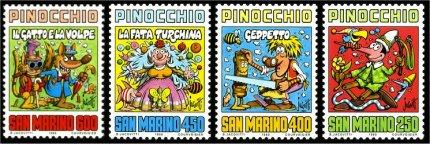 Pinocchio Serie Francobolli Jacovitti San Marino