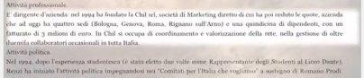 Curriculum Renzi