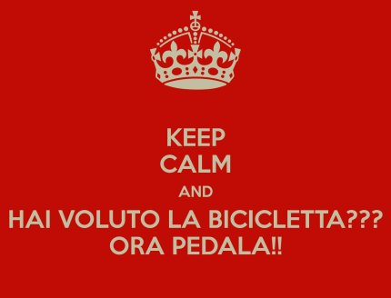 Bicicletta Marino Pedala Keep Calm