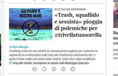 #trivellatuasorella corsera