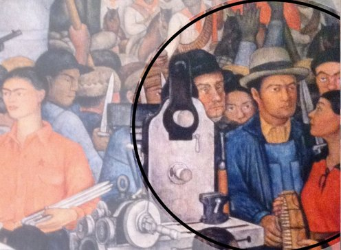 Modotti Mella VIdali Rivera Arsenal Murales