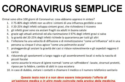 Coronavirus 10 regole